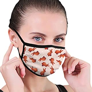 Dust Mask Coral Rabbit Watercolor - Reusable Comfy Breathable Safety Air Fog Respirator - For Blocking Dust Air Pollution Flu Protection