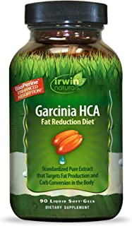 Irwin Natuals Garcinia HCA Fat Reduction Diet (Garcinia Cambogia) - Enhanced Absorption Standardized Hydroxycitric Acid - ...