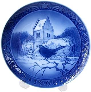 ロイヤルコペンハーゲン イヤープレート クリスマスプレート 1966年 昭和41年 教会の黒鳥 1901066 [並行輸入品]