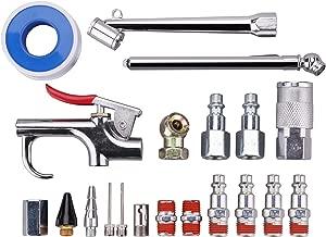 WYNNsky Air Hose Fittings 1/4 Inch NPT Air Compressor Connect Coupler/Plug with Storage Case/Blow Gun/Tire Gauge, 20-Piece