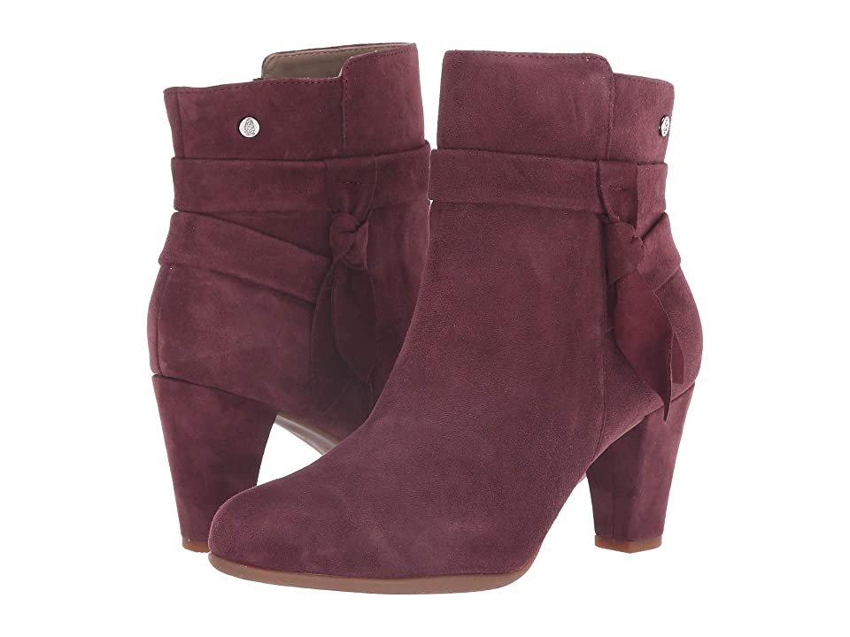 Hush Puppies Meaghan Bow Boot (Dark Wine Suede) Women