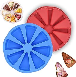 Lot de 2 moules à gâteau en silicone à 8 cavités – Moule à scone en silicone pour pain de maïs, brownies, muffins et savon...