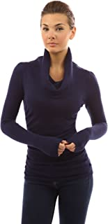 PattyBoutik Women Cowl Neck Ruched Sides Sweater