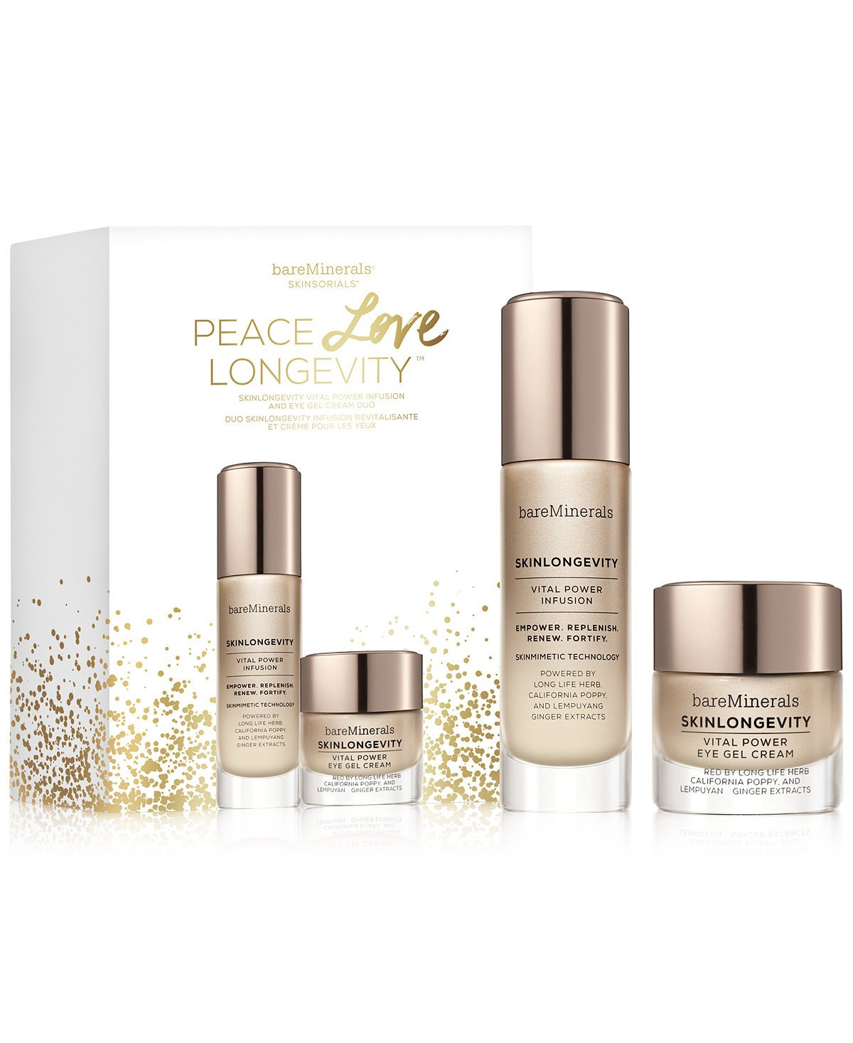 bareMinerals Peace Love Longevity Skinlongevity Outlet SALE and Eye Max 48% OFF Serum Cr