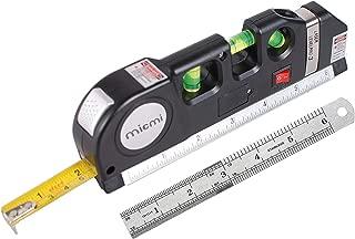 Laser level, Multipurpose Laser tape measure Line 8ft+ Tape Measure Ruler Adjusted Standard and Metric Rulers Update Batteries MICMI
