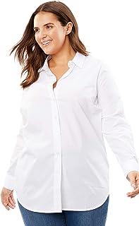 f7c82d4bdea Amazon.com  Plus Size - Blouses   Button-Down Shirts   Tops