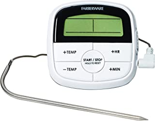Farberware Protek Probe Oven Roasting Thermometer Kitchen Thermomether, 6.7 x 3.1 x 1 inches, Black
