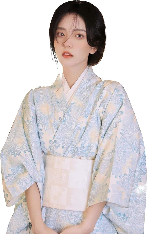 YOMORIO Japanese Kimono ランキングTOP10 Traditional Floral Long 超歓迎された Ro Yukata