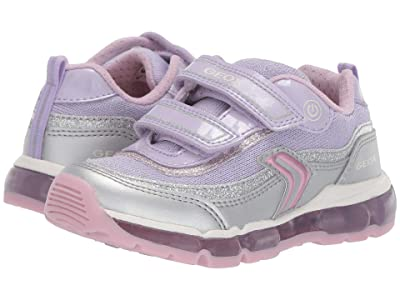 Geox Kids Android Girl 21 (Toddler) (Silver/Lilac) Girl
