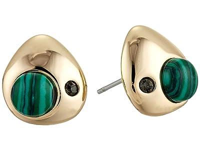 Rebecca Minkoff Chubby Multi Stone Mini Studs Earrings (Gold) Earring