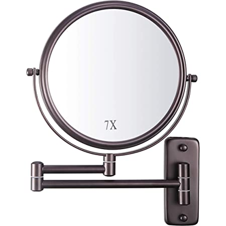 Amazon Com Jerdon J2020c 8 3 Inch Two Sided Swivel Wall Mount Mirror With 5x Magnification 30 Inch Extension Chrome And White Finish Beauty