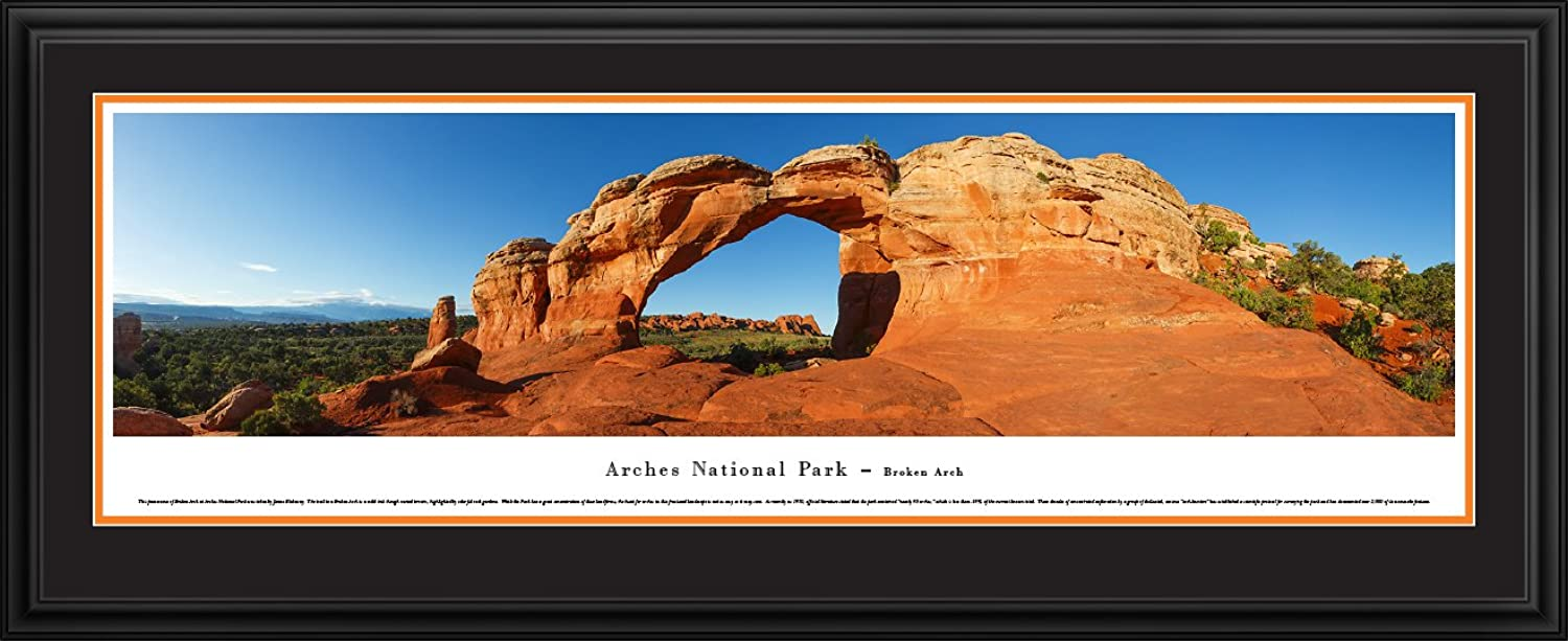 Arches National Park  Broken Arch Blakeway Panoramas National Park Posters with Deluxe Frame