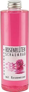 Lashuma Rosenblüten Badezusatz 400 ml, Duftender Badeschaum mit Wertvollem Rosenwasser, Pflege Schaumbad für Reine Haut