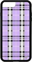 Wildflower Limited Edition iPhone Case for iPhone 6 Plus, 7 Plus, or 8 Plus (Lavender Plaid)