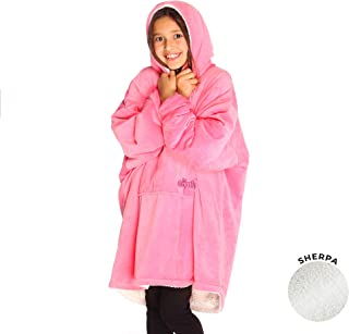 THE COMFY | The Original Oversized Sherpa Blanket for Kids, Seen On Shark Tank, One Size..