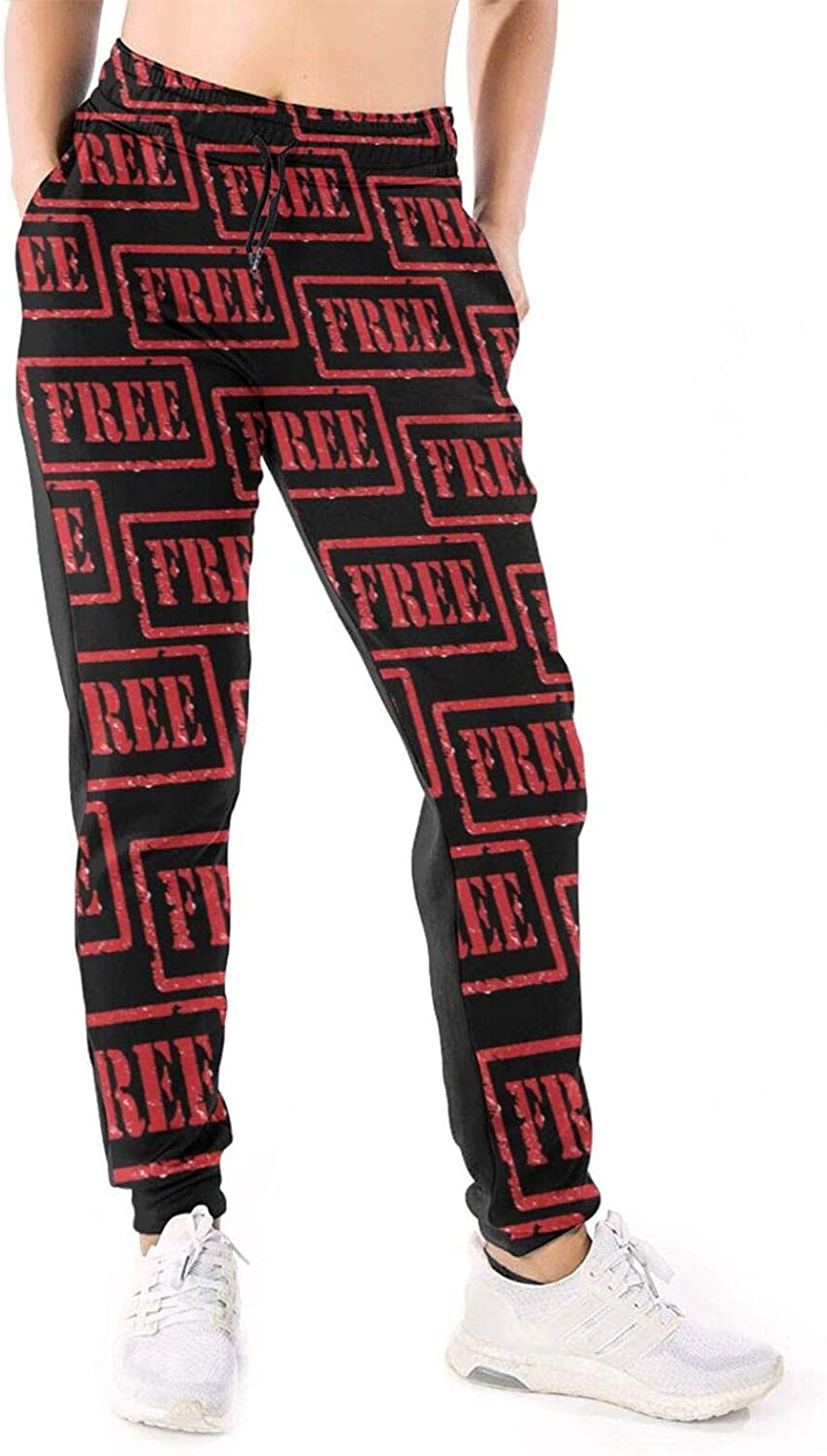 Women Joggers Pants Free Stamp Vintage Athletic Sweatpants with Pockets Casual Trousers Baggy