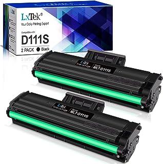 LxTek Compatible Reemplazo para Samsung MLT-D111S D111S Cartuchos de tóner para Samsung Xpress M2026W M2026 SL-M2070 SL-M2070W SL-M2070F SL-M2070FW M2020W M2020 M2022 M2022W (2 Negro)