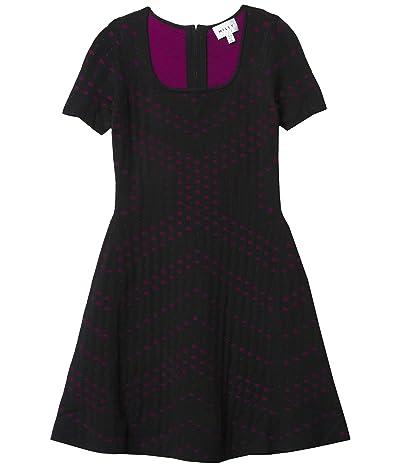 Milly Minis Pointelle Jacquard Flare Dress (Big Kids) Girl