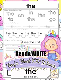 Read and Write Fry's First 100 Words: With 100 Sight Word Mini Books Write and Learn High Frequency Word Practice Pages Th...