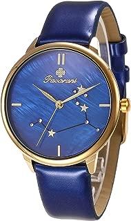 Pavaruni Original12 Constellation Galaxy Watch Gift,Midnight Planetarium Universe Planet Starry Sky Star Sign Waterproof