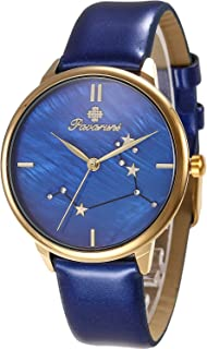 Pavaruni Original12 Constellation Galaxy Watch Gift,Midnight Planetarium Universe Planet Starry Sky Star Sign Waterproof