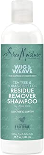 SheaMoisture Residue Remover Shampoo for Synthetic and Natural Hair, Tea Tree and Borage Seed, Sulfate Free Clarifying Sha...
