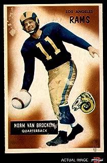 1955 Bowman # 32 Norm Van Brocklin Los Angeles Rams (Football Card) Dean's Cards 5 - EX Rams