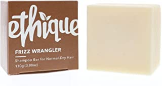 Ethique Eco-Friendly Solid Shampoo Bar for Normal-Dry or Frizzy Hair, Frizz Wrangler - Sustainable Natural Shampoo, Soap Free, pH Balanced, Vegan, Plant Based, 100% Compostable & Zero Waste, 3.88oz