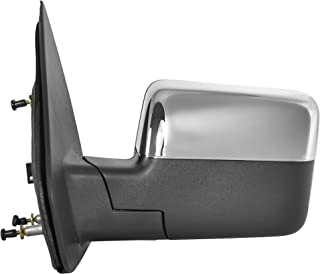 Driver Side Power Operated & Heated Mirror With Signal With Chrome Finish Cover Fits 04-06 Ford F-150 - Manual Folding - Parts Link #: FO1320332