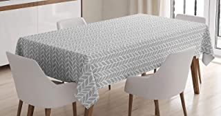 BMALL Cotton Linen Tablecloth Norwegian Pattern Traditional Design with a Modern Representation Table Cover for Kitchen Dinning Tabletop Decoration 60X84inch
