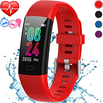 Inspiratek Kids Fitness Tracker for Girls and Boys Age 5-16 (4 Colors)- Waterproof Fitness Watch for Kids with Heart Rate Monitor, Sleep Monitor, Calorie Counter and More - Kids Activity Tracker