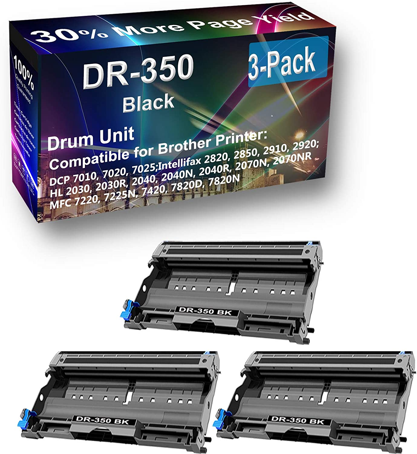 3-Pack Compatible DR350 DR-350 Drum use DCP-70 Kit Direct store Japan Maker New for Brother