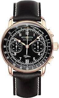 ツェッペリン ZEPPELIN 腕時計 7676-2 100周年記念 クォーツ 42mm レザーベルト [並行輸入品]