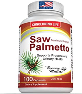 Saw Palmetto Supplement for Prostate Health - Promotes Healthy Urination Frequency and May Help with Hair Loss, DHT Blocker - 100 Gluten Free, Non-GMO, Capsules
