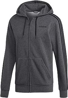 adidas Men's Essentials 3-stripes Full-zip Fleece Hooded Sweatshirt