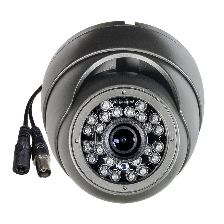 不確実マイク補助金SKYVIEW HD 1080 PハイブリッドCCTVカメラ、2メガピクセルCMOS、TVI/CVI/AHD/CVBS 4 in 1、3.6 mm固定レンズおよび24 IR LED、IP66防水デイ/ナイトビジョンIRカットセキュリティカメラ - グレー(デフォルトTVI出力)