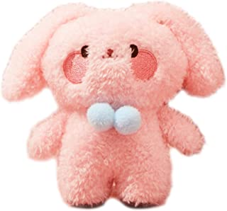Plush Bunny Keychains Rabbit Key Chains Cute Animals Ornaments Pendant Pink