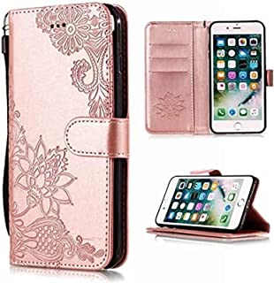Cell Phone Accessories for IPhone XS Max,Phone Back Cover Wallet Flip Case for IPhone XR X 5 5S 6S 8 7 Plus (Color : E, Si...