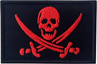Pirate Flag Military Morale Fastener Hook & Loop Patch