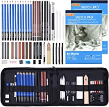 Drawing Pencils Set,52 Pack Professional Sketch Pencil Set in Zipper Carry Case,Drawing Kit Art Supplies with Graphite Cha...