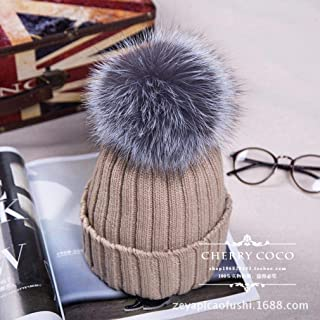 Knitted Hats for Women Super Hair Ball Thickening Cold Warm Wooly Knit Hat