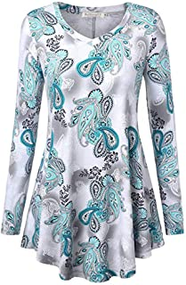 Ladies Dresses Long Sleeve Digital Floral Printed T-Shirt Blouse Swing Dress Women's Casual