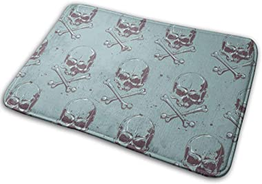 Skulls Art Carpet Non-Slip Welcome Front Doormat Entryway Carpet Washable Outdoor Indoor Mat Room Rug 15.7 X 23.6 inch
