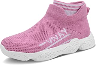 Ceryman Kids Running Shoes Lightweight Breathable Casual Athletic Walking Sneakers Slip-on Socks Shoes for Boys and Girls
