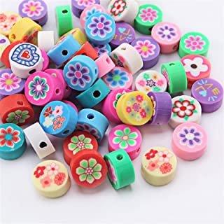 Soft Clay Beads Animal Fruit Smiley Face Loose Spacer Beads for Women Girls Jewelry Making DIY Bracelet 30PCS (Color : 18,...