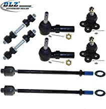 DLZ 8 Pcs Front Kit-2 Lower Ball Joint 2 Inner 2 Outer Tie Rod End 2 Sway Bar Compatible with 2000-2005 Buick LeSabre 2000-2005 Cadillac DeVille 1998-2004 Cadillac Seville 2001-2002 Oldsmobile Aurora