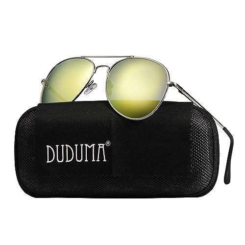 c5cdf72d6ef2 Duduma Aviator Sunglasses for Mens Womens Mirrored Sun Glasses Shades with  Uv400