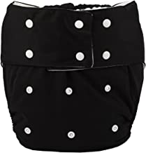 Sigzagor Teen Adult Cloth Diaper Nappy Reusable Washable For Disability Incontinence Men (Black)