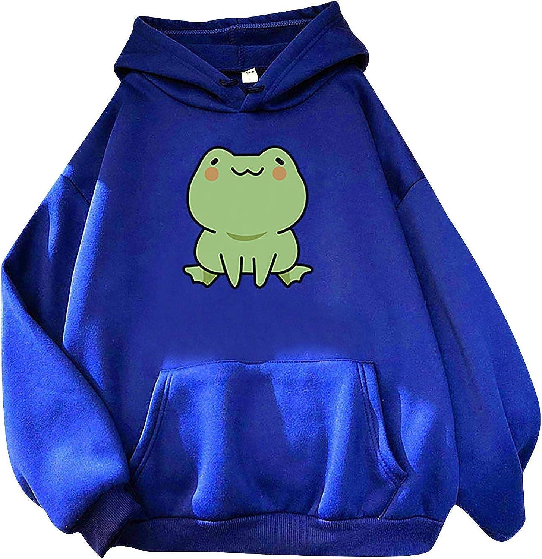TTzhiye Cute Tops for Women Casual, Womens Fashion Long Sleeve Cute Animal Print Hoodie Pullover Crewneck Sweatshirts
