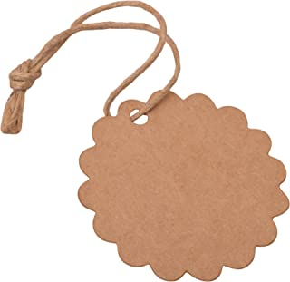 Brown Paper Hang Tags DIY Arts and Crafts Wedding Supply Gift Hanging Tag with Twine-Pack of 2000